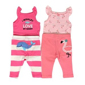 Carter's Baby Girl Lot of 2 Pink Summer Outfits